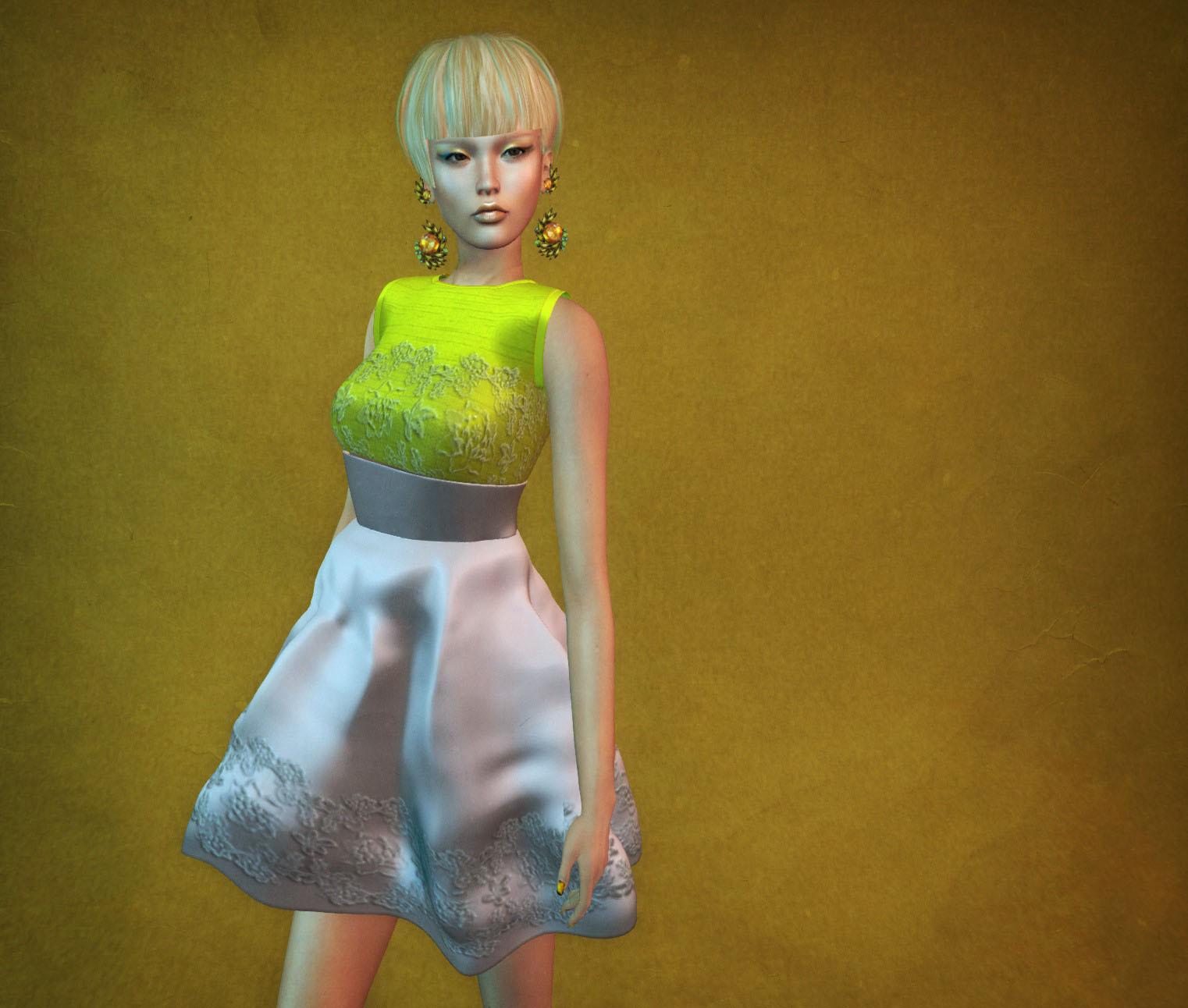 Nina in yellow