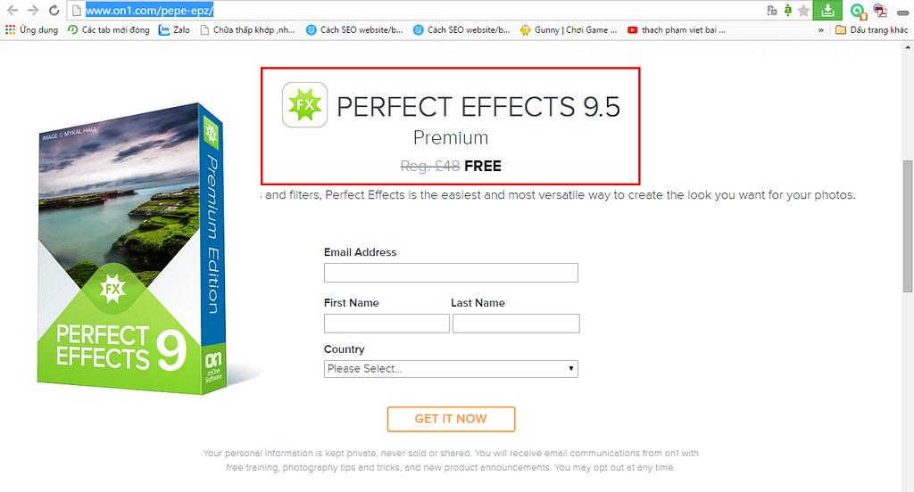 Perfect Effects 9.5 Premium Serial Keys