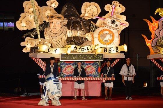 Aomori Nebuta Festival Japan - Star Wars Floats The Force Awakens