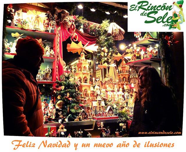 Sele y Rebeca en un mercadillo navideño en el norte de Baviera (Alemania)