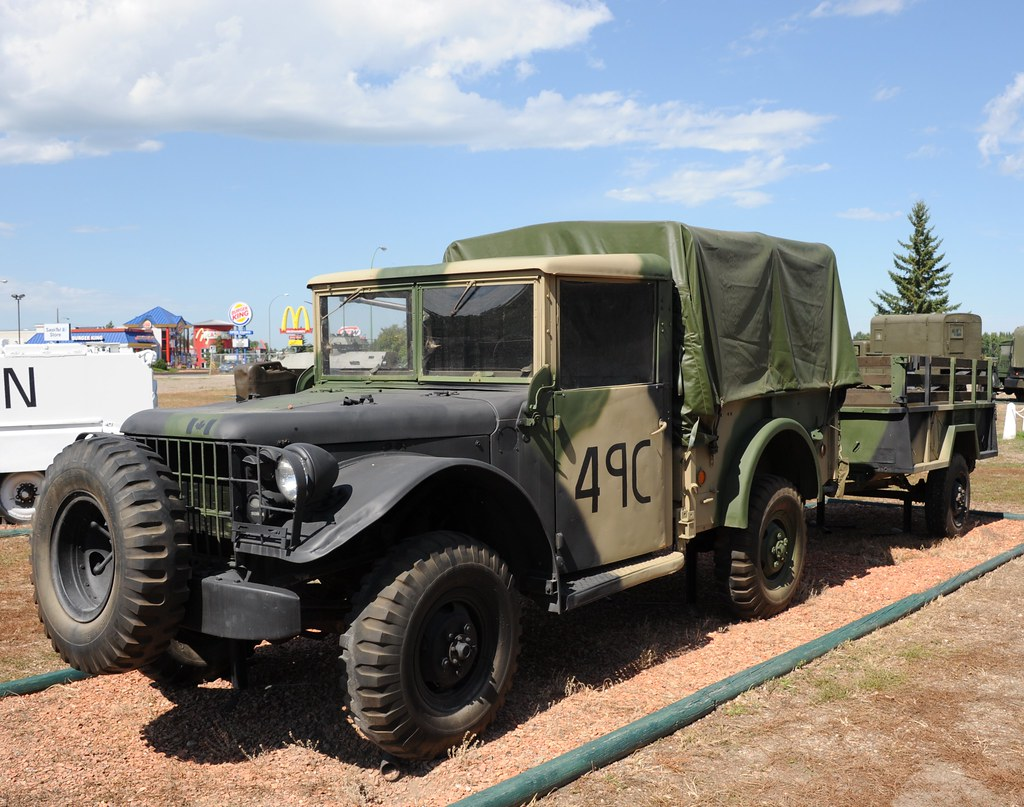 Canadian Dodge M37 And Trailer Dodge M 37 History Both The Flickr