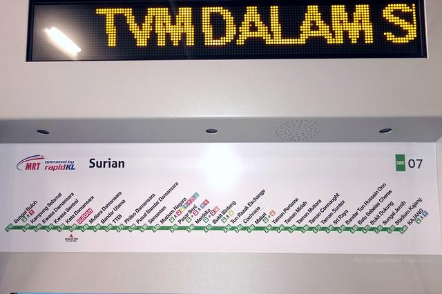 Sungai Buloh-Kajang Line info and corresponding fare