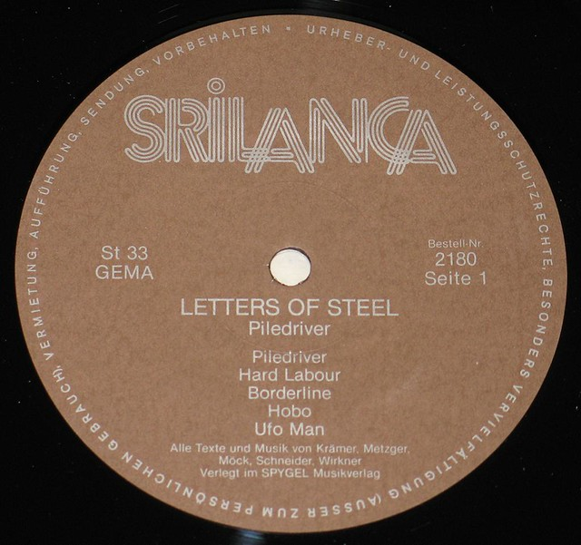 "PILEDRIVER (DE) LETTERS OF STEEL 12"" LP"