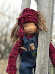 "Joey and Chippy - 12"" Natural Cloth Doll"