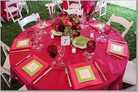 Pink And Green Table 2 Wedding Or Party Decorations Flickr