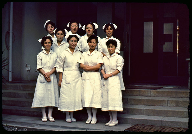 Japanese Nurses  From A Whole Set Of Slides Found At A -5469