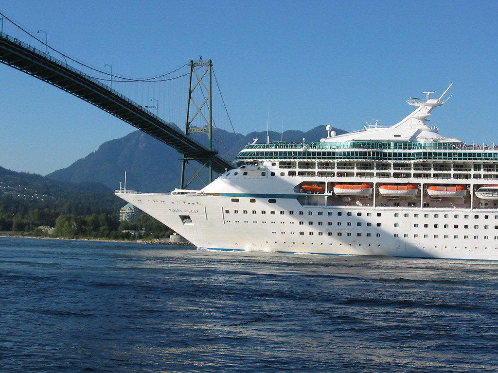 Look Out  A Cruise Ship Leaving Vancouver  From Where I