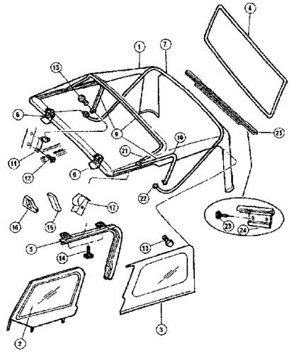 Jeep Tj Soft Top Breakout Diagram