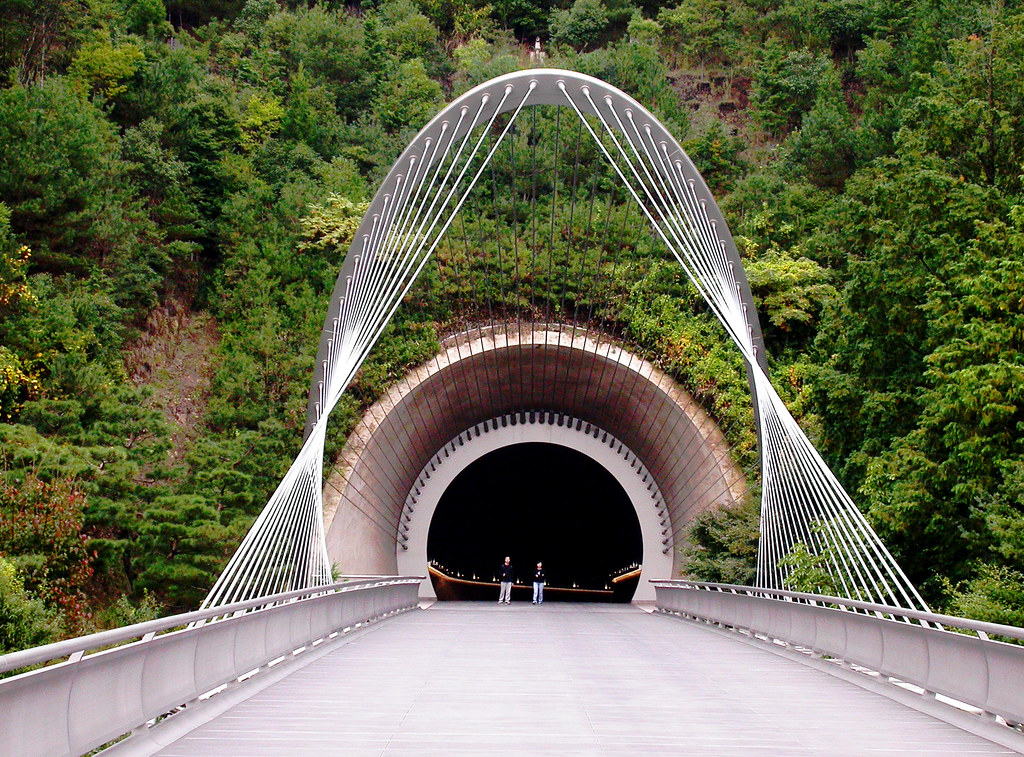 Miho Museum Tunnel Exit At Bridge Across From I M Pei