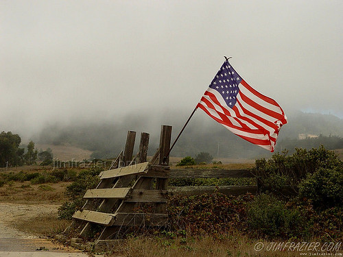 Flag and Fence | by Jim Frazier
