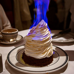 Flaming baked Alaska | by Tommy Williams