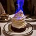 Flaming baked Alaska