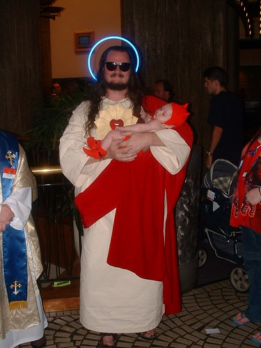 Buddy Christ and devil baby | by sjmck