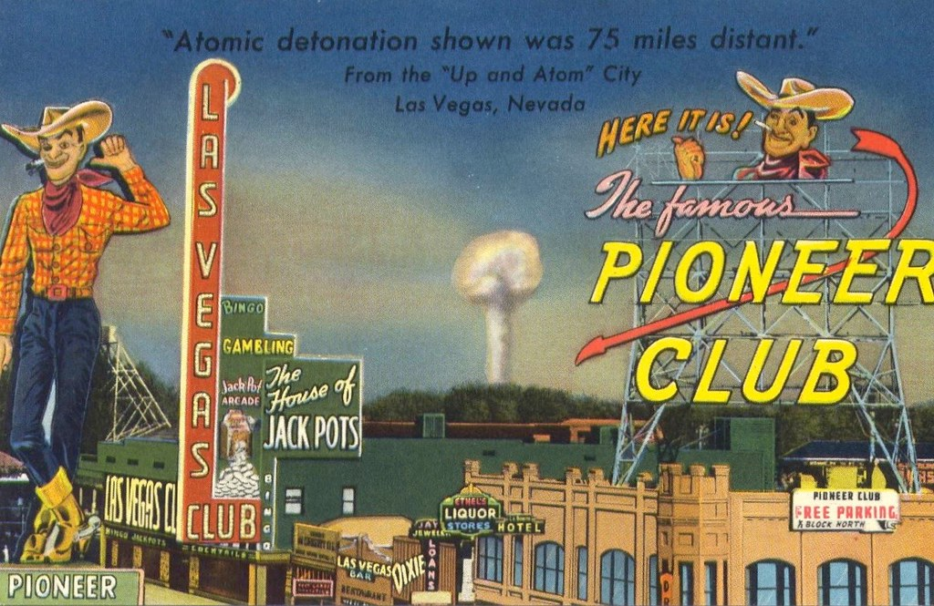 Fremont Street A Bomb Las Vegas Postcard This Is One