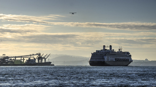 Cruiseship in Vancouver Harbour