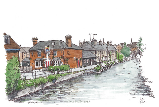 Hertford, by the River Lea, UK