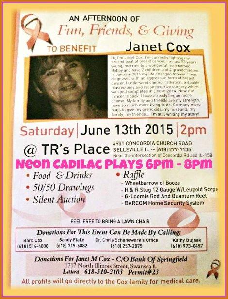 Janet Cox Benefit 6-13-15
