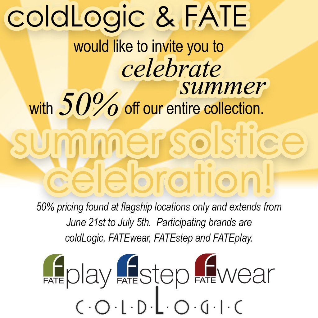 coldLogic summer solstice sale 2015