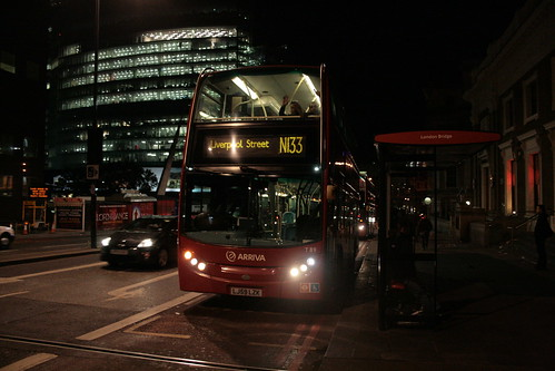 Arriva London T89 on Route N133, London Bridge