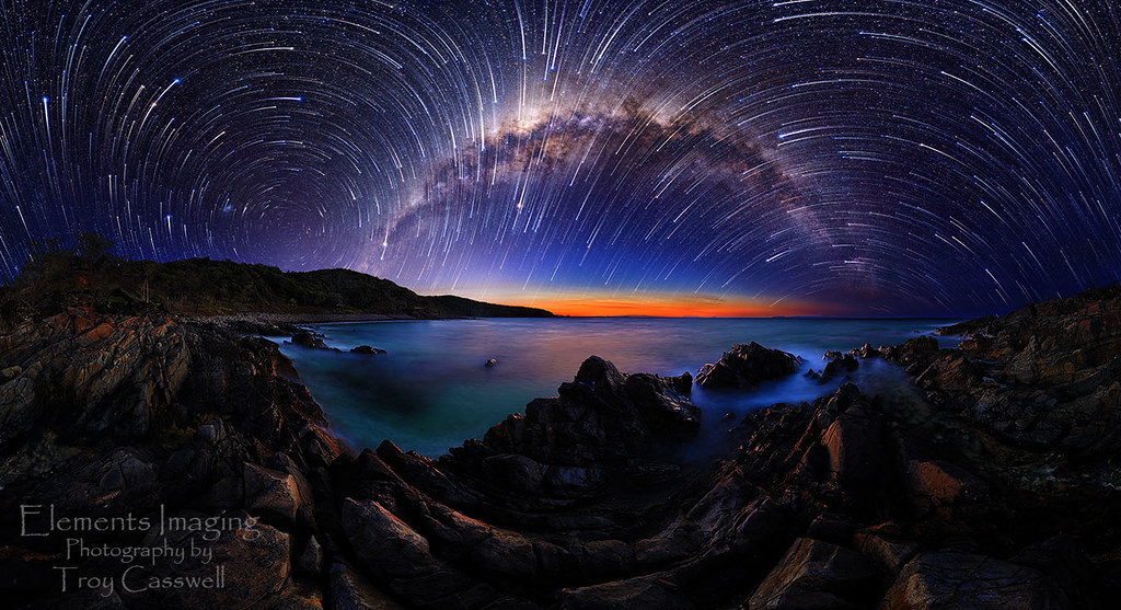 Celestial Fireworks 130912 A Full 360 Degree Star Trails