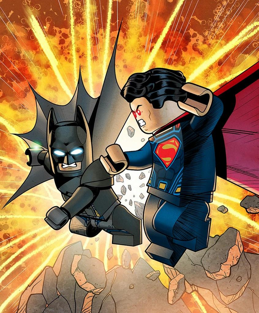 Lego Batman V. Superman | Credit to polywen for drawing ...