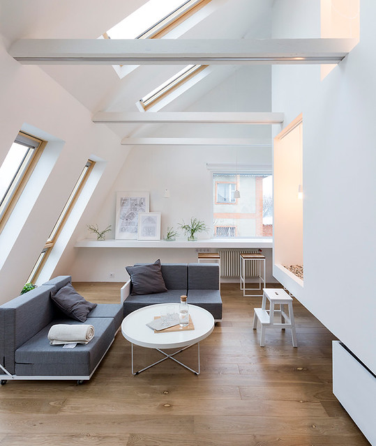 Multifunctional Living Room In Moscow