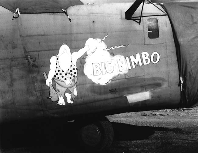 22BG B-24 Big Nimbo nose art
