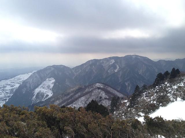 入道ヶ岳 山頂より野登山