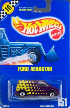 1991 Hot Wheels Ford Aerostar, Collector Number 151