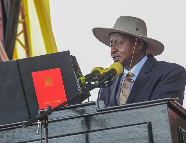 Cérémonie d'investiture de Museveni en Ouganda