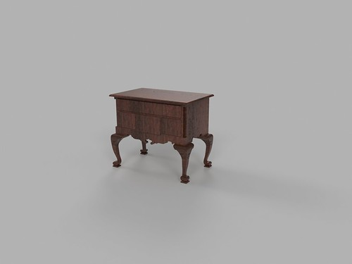 Chippendale lowboy 3d sketch | by vika-m