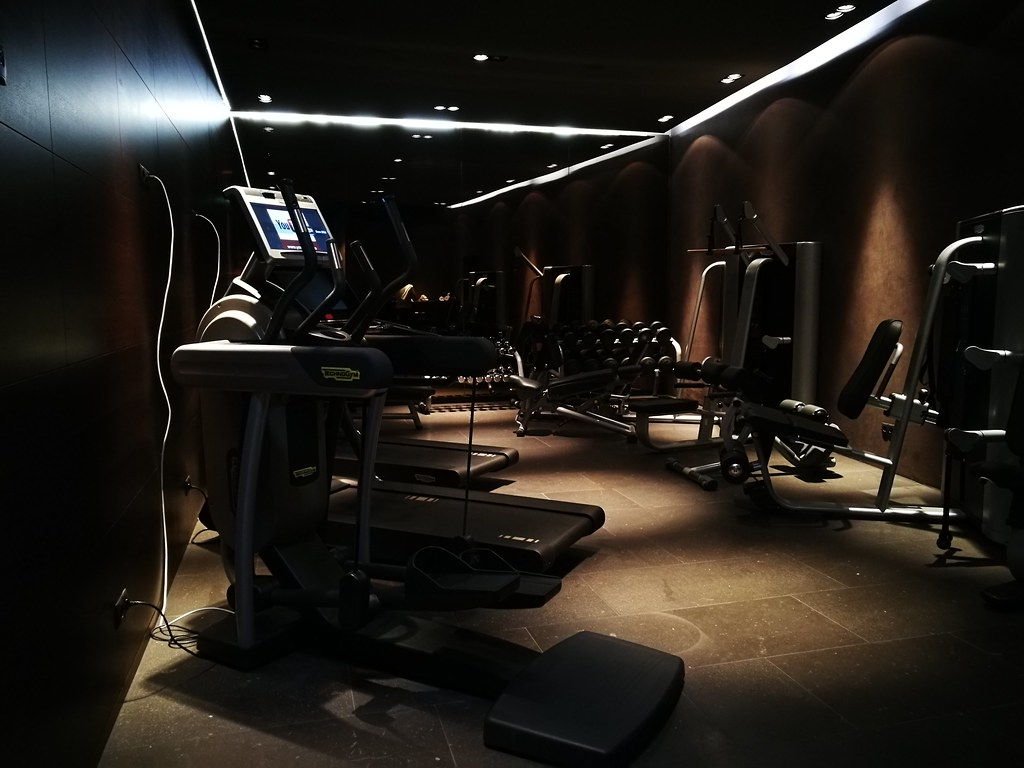 Dark gym interior