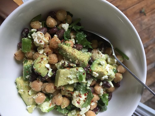 June 12 #dailylunches - avocado, chickpea, and feta salad