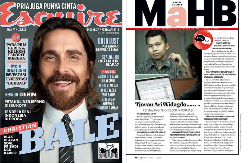 Esquire magazine tyovan ari widagdo