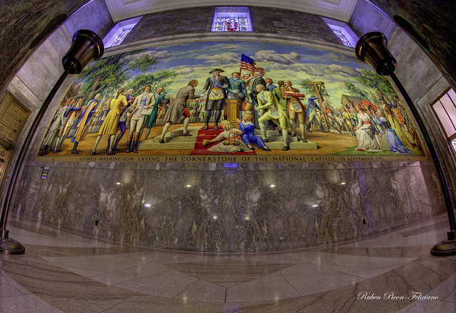 South Wall Mural Washington Masonic National Memorial