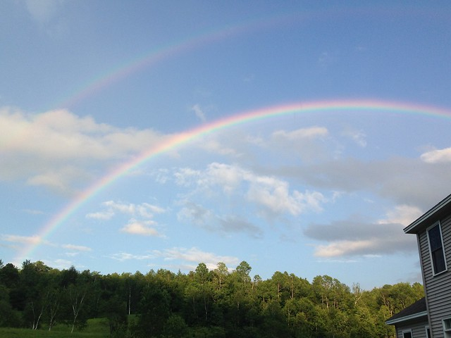 Awesome rainbow in the back yard