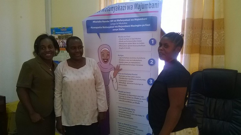 2015-6-16 DWs in Tanzania pressurising Government to Ratify C189