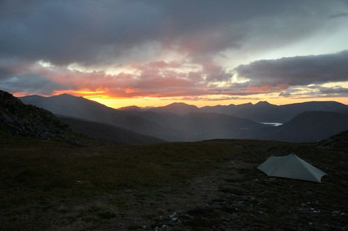 Sunset from Sgorr na Diollaid