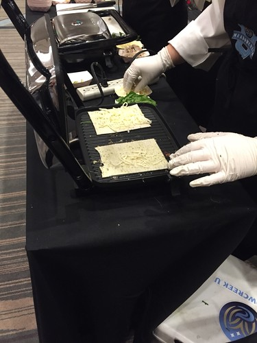 Gwinnett County Public Schools culinary students preparing chicken pesto panini
