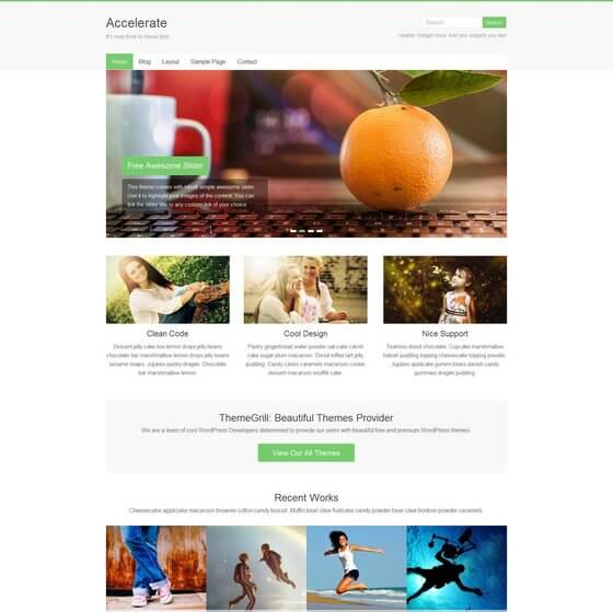 Accelerate – WordPress theme for absolutely any project
