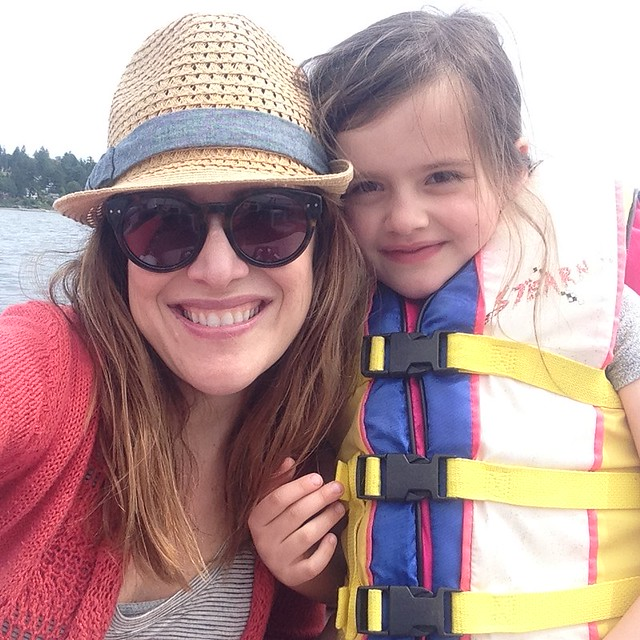 me and cate on the boat!