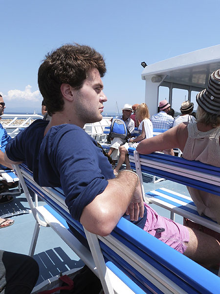 paul sur le bateau