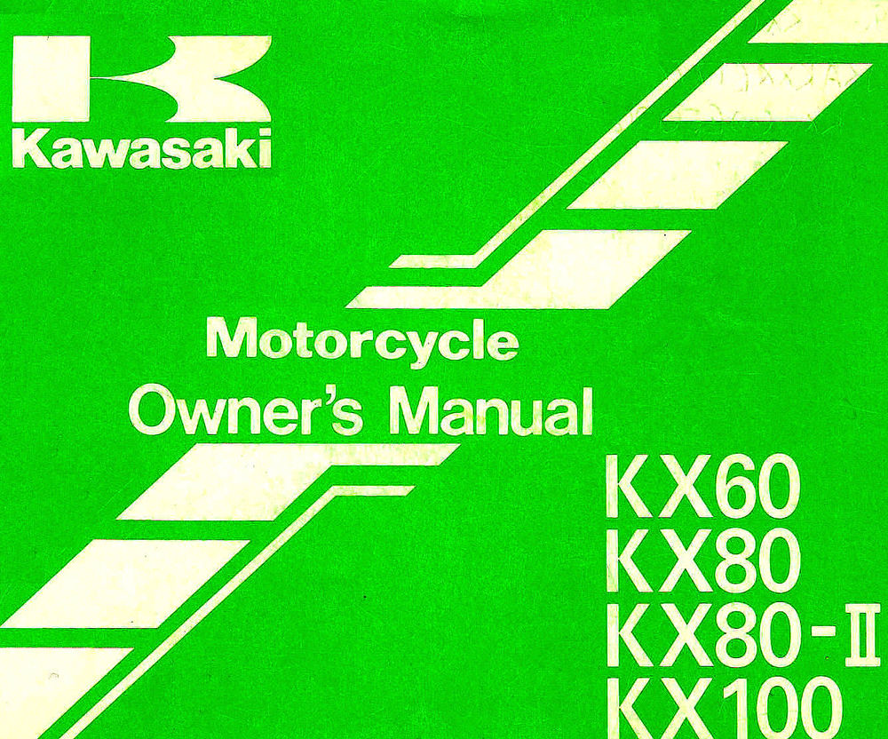 1996 kawasaki kx60 kx80 kx100 motorcycle owners manual kx flickr rh flickr  com Kawasaki 81 KX 1985 Kawasaki KX 80