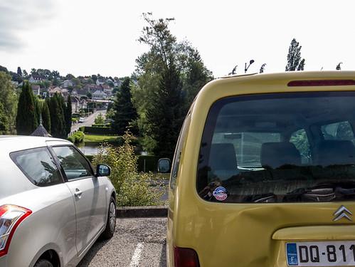 Gu?©ret, parking centre hospitalier