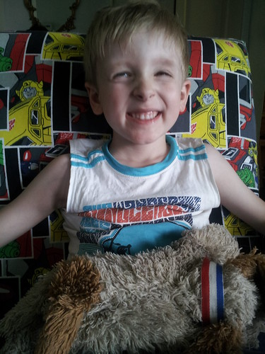 Happy chappy with his new chair <3