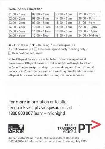 V/Line explains 24-hour time