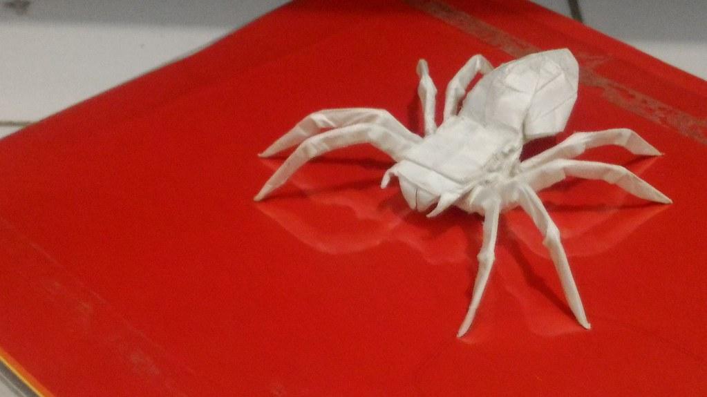 Origami Spider Daniel Adi Paper Size 30 Cm Box Pleat 4 Flickr