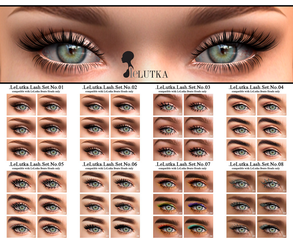 Lelutka Lashes Out Now Appliers For Lelutka Bento Head Flickr