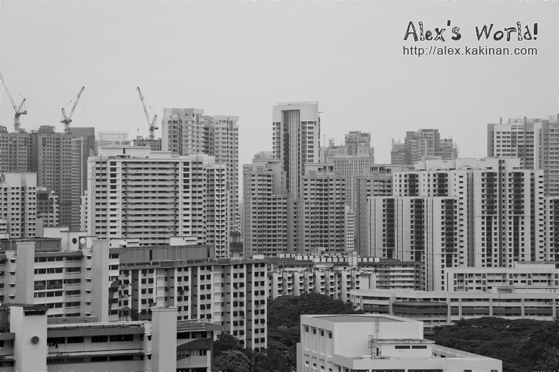 Flats in Singapore taken from Mt Faber