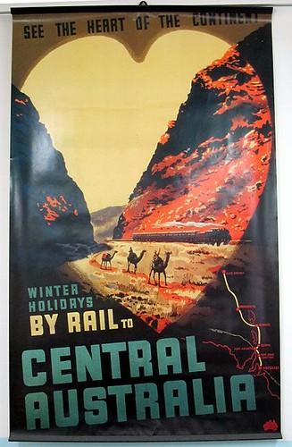 Central Australia Railway poster